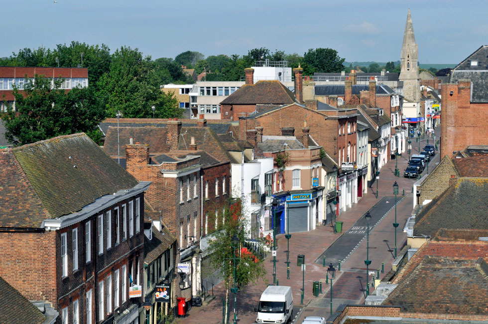 From the tower of St Michaels - looking west, Sittingbourne