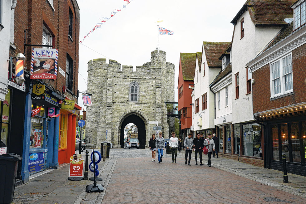 The Westgate Towers and St Peter's Street, Canterbury