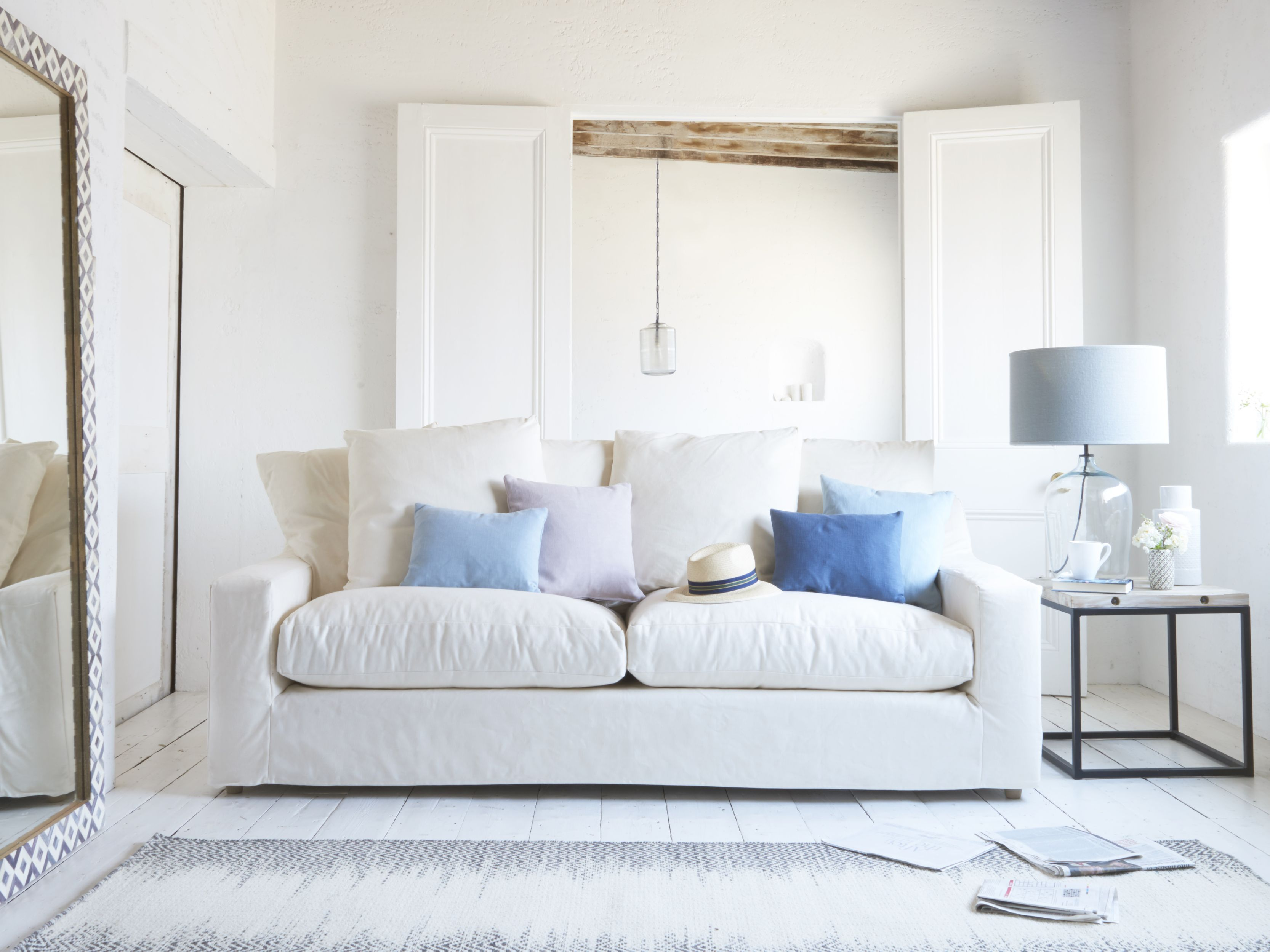 Cloud sofa, with oyster white clever linen removable covers, from £1,195, Loaf