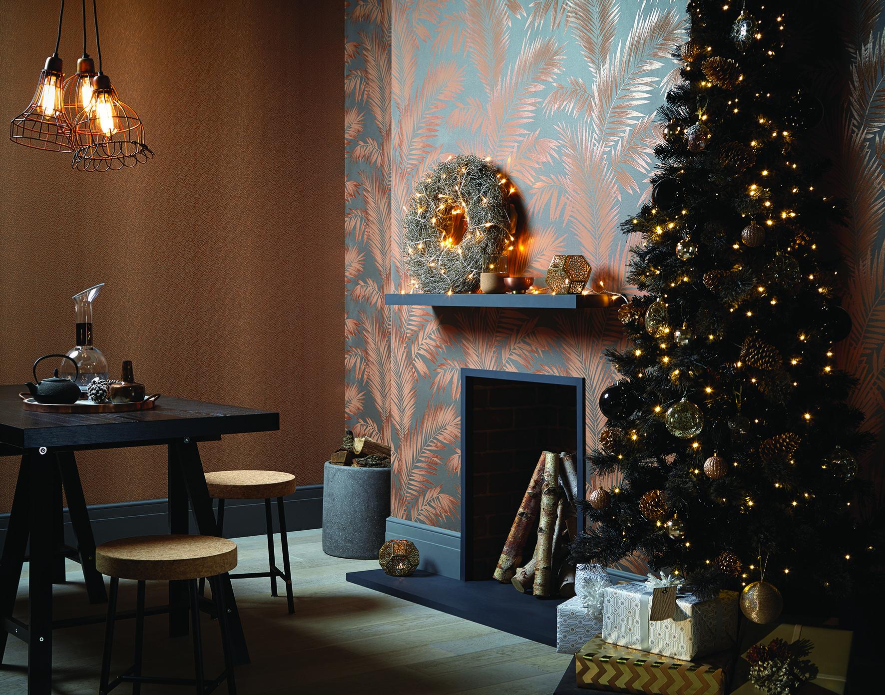 Arthouse Ardita Leaf Pattern Floral Motif Metallic Leaves Wallpaper, £15.99 a roll, I Want Wallpaper