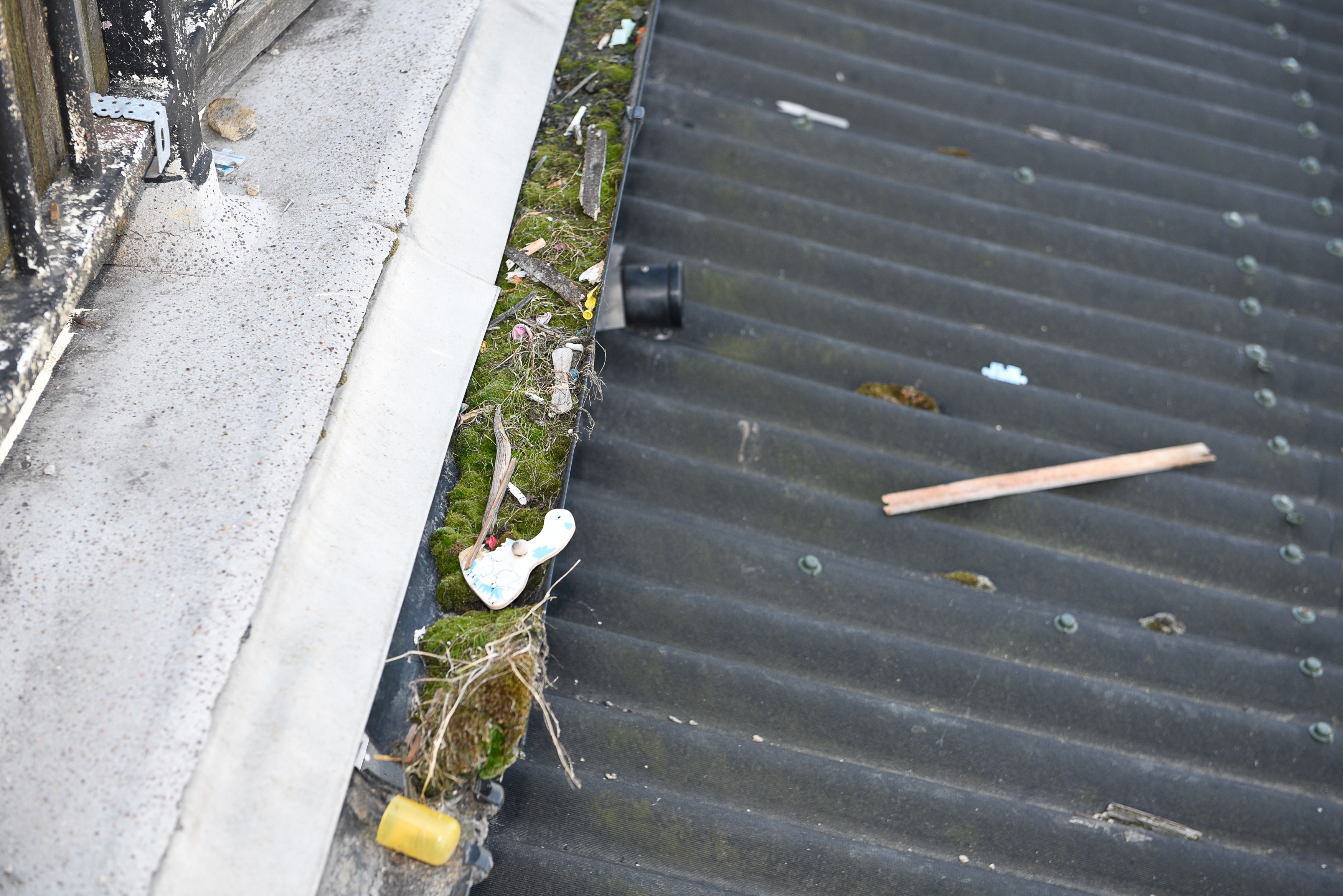 Don't let your gutter clog up. It could leave you with some very costly problems.