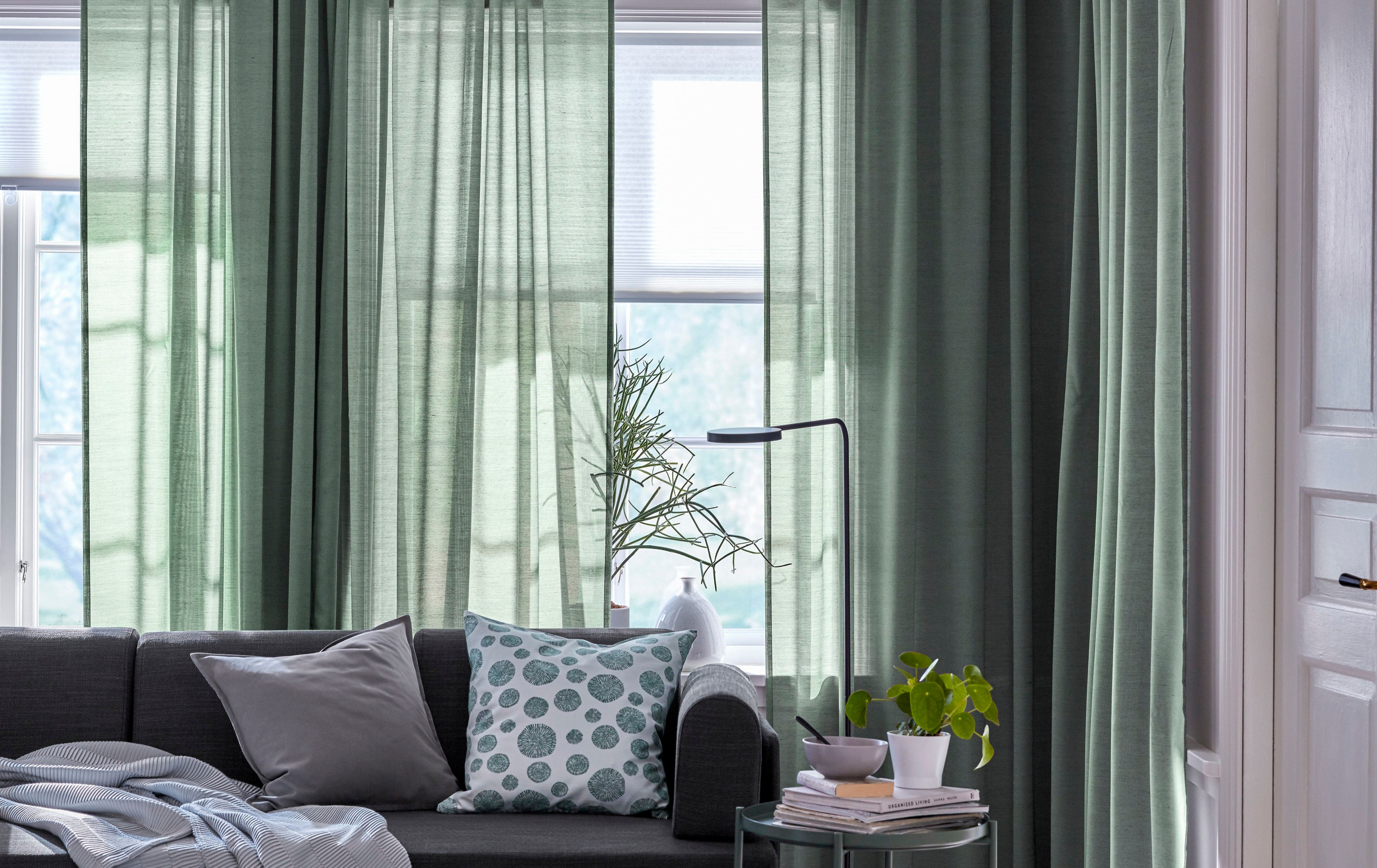 These pretty IKEA curtains won't be pretty for long if they are left to be. Picture: Ikea/PA